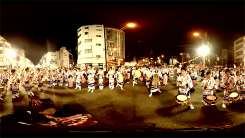 【4K 360度動画】徳島県の阿波踊りをVRで体験しよう!