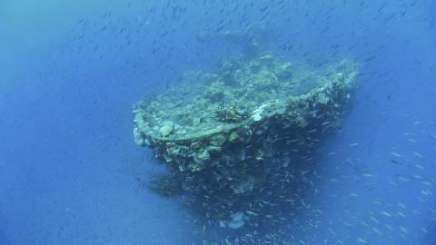 ヴァーチャルダイビング トラック環礁「富士川丸」