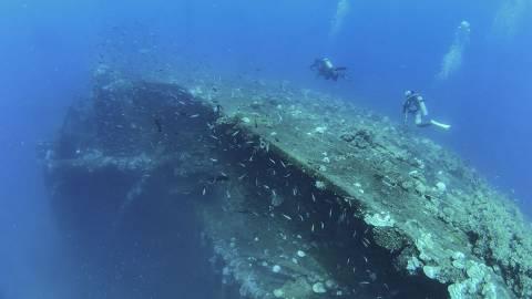 ヴァーチャルダイビング トラック環礁の沈船